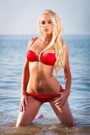 Blond bikini girl