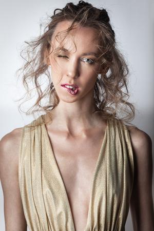 coiffure et le maquillage Banque d'images
