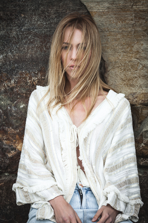 fashion dress: fashion on a beach