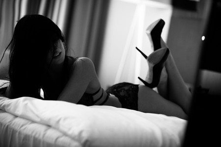 Lingerie in bed