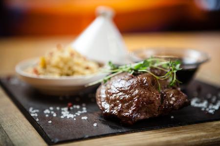 fillet steak: Steak fillet of lamb Stock Photo