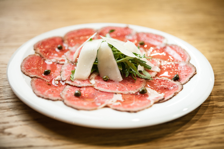 Carpaccio on a plate