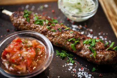 angus: Lula kebab with tomato salsa