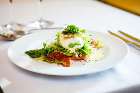 Fresh salad of mozzarella Stock Photo