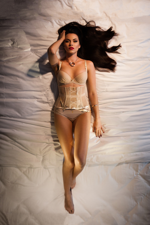 Lingerie in bed photo