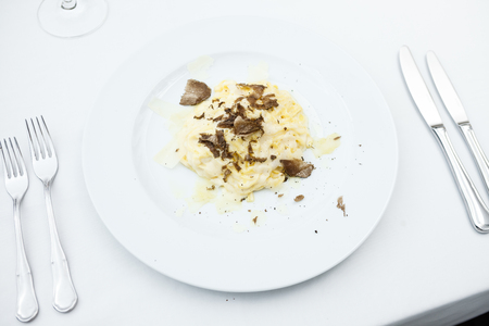 Taglolini pasta with truffles Banque d'images