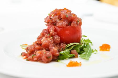 Tuna tartar with tomato