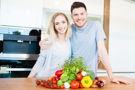 couple preparing food Stock Photo - 97847357