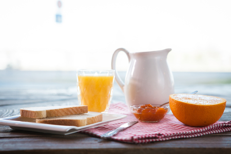 Healthy breakfast on the table Stock Photo - 98182682