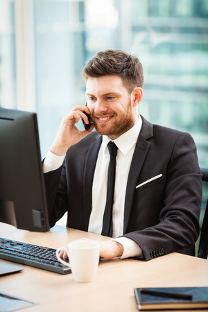 Young businessman in office Stock Photo - 101868446