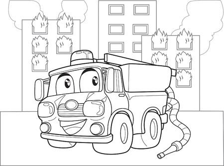 voiture de pompiers: CAMION DE POMPIER