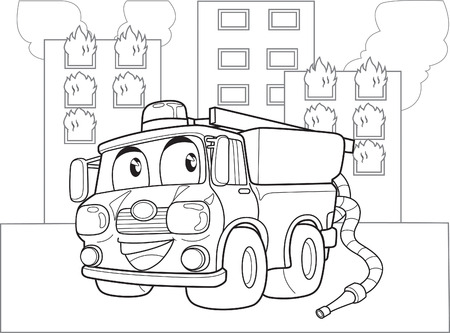 fire engine: FIRE ENGINE Illustration