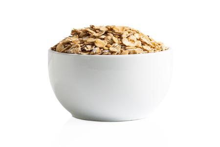 Gluten free oats in a cup isolation. Stok Fotoğraf