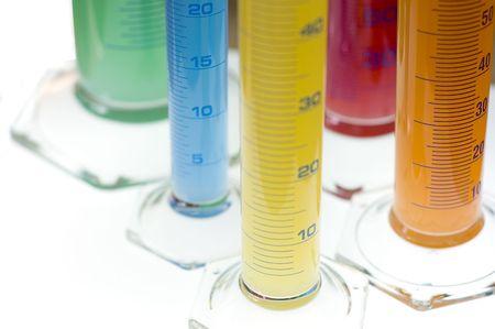 laboratory cylinders  Stock Photo