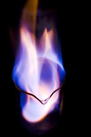 oxygenated: flame Stock Photo