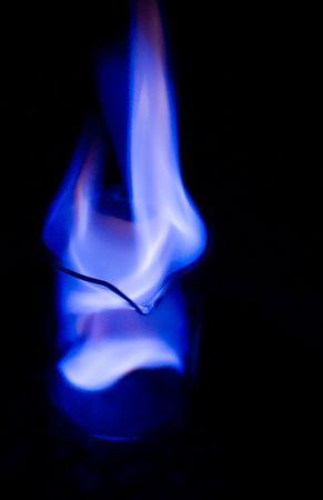 oxygenated: burning Ethanol fuel