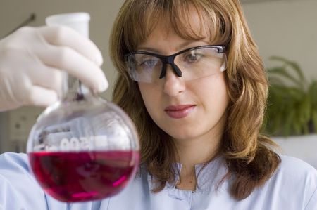 personel: chemist preparing analys