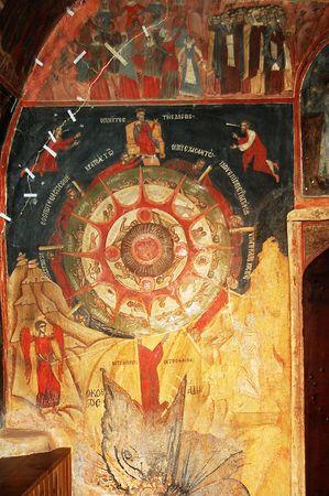 fresco: Fresco in bulgarian monastery