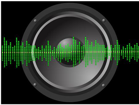 fm: speaker with equalizer Illustration