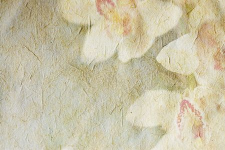 Vintage canvas background with flowers Stock Photo