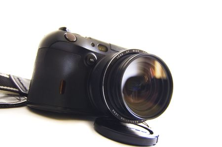 megapixel: digital photo camera on white