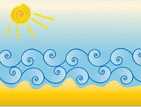 sun sea waves and beach