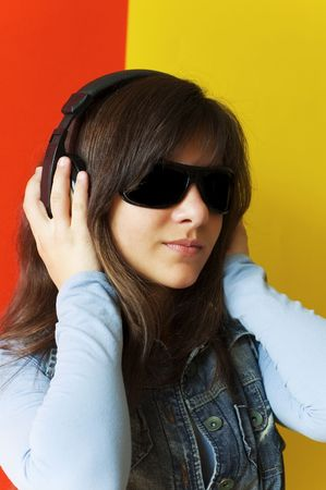 girl listening to music Stock Photo - 2838949