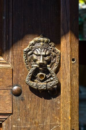 old lock lion head photo