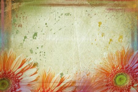 vintage canvas background floral Stock Photo
