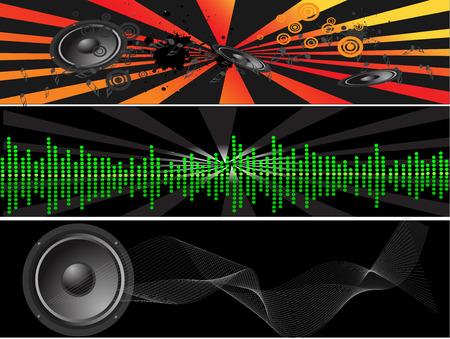 ritme: muziek achtergronden banners