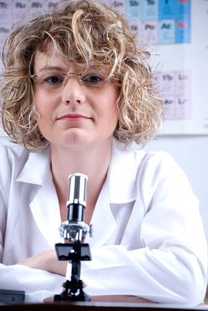 assistent: chemist.woman laboratory assistent Stock Photo