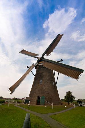 Dutch windmills in Kinderdijk photo