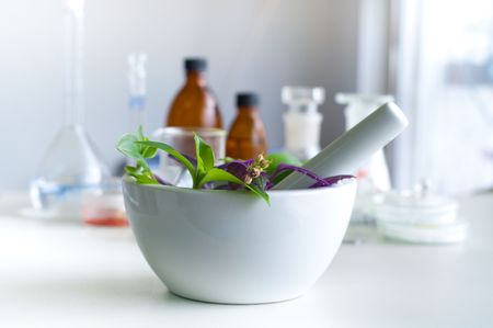 mortar and pestle medicine: bio laboratory