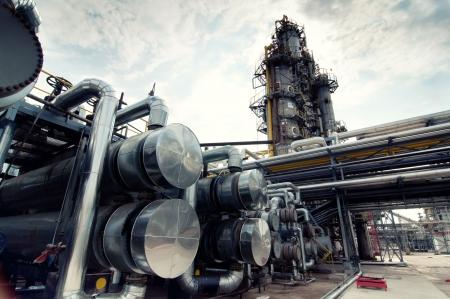 olieraffinaderij Stockfoto