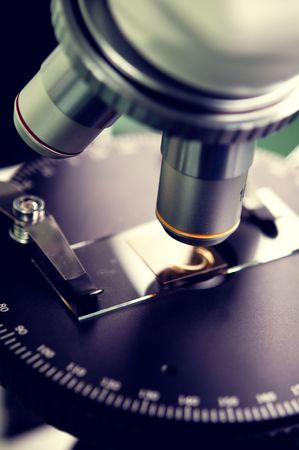 microscope close-up Stock Photo