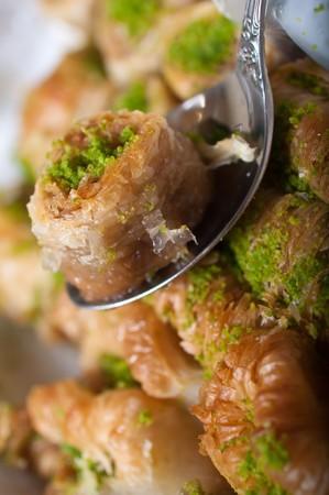baklava:   turkish delight,baklava Stock Photo
