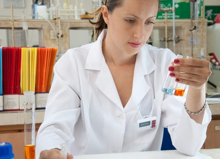 Researcher making analys