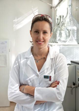 investigador cientifico: Retrato de una mujer hermosa cient�fico