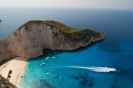 Navagio ,The famous shipwreck beach on the Zakynthos island, Greece