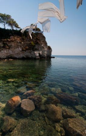 cameo: beautiful view of Cameo island, Zakynthos  Stock Photo