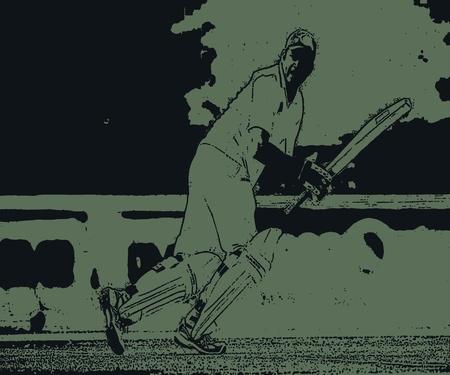Cricket Shot- Nice Batting Style Stock Photo - 12162162