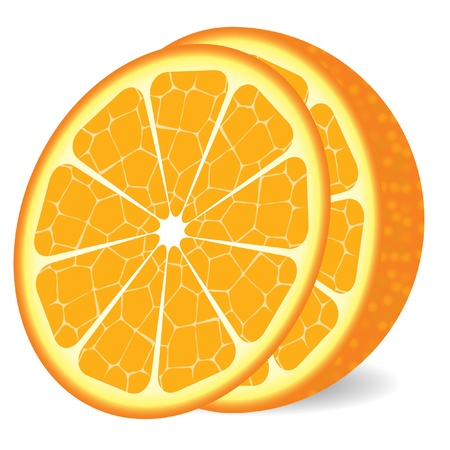 resize: Half orange with slice - image can be re-size to any limit in illustrator