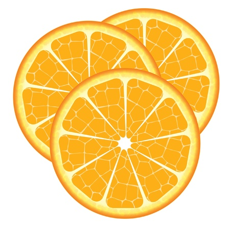 Orange slice vector can be re-size to any limit in illustrator Illustration