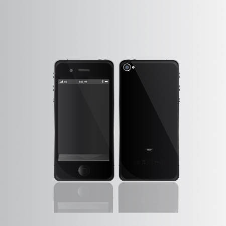 Black smart phones - any image can be placed on screen and image ane re-size to any limit Vector