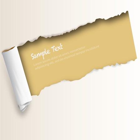papier pli�: papier d�chir� - l'image peut �tre redimensionner � aucune limite Illustration