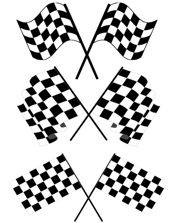 finishing line: checkered flags- can edit image according to your needs and can be re-size to any limit Illustration