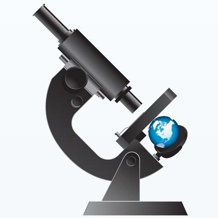 earth under the Microscope - illustration