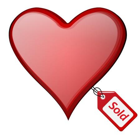 curare teneramente: cuore illustrazione venduto con tag venduti