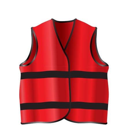 coat rack: Red safety vest for construction workers Illustration
