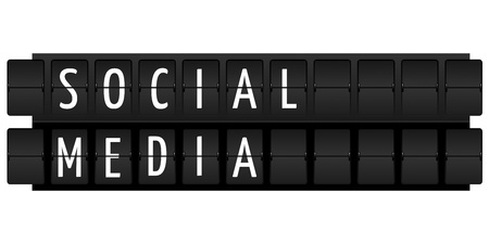 social media text in table style illustration